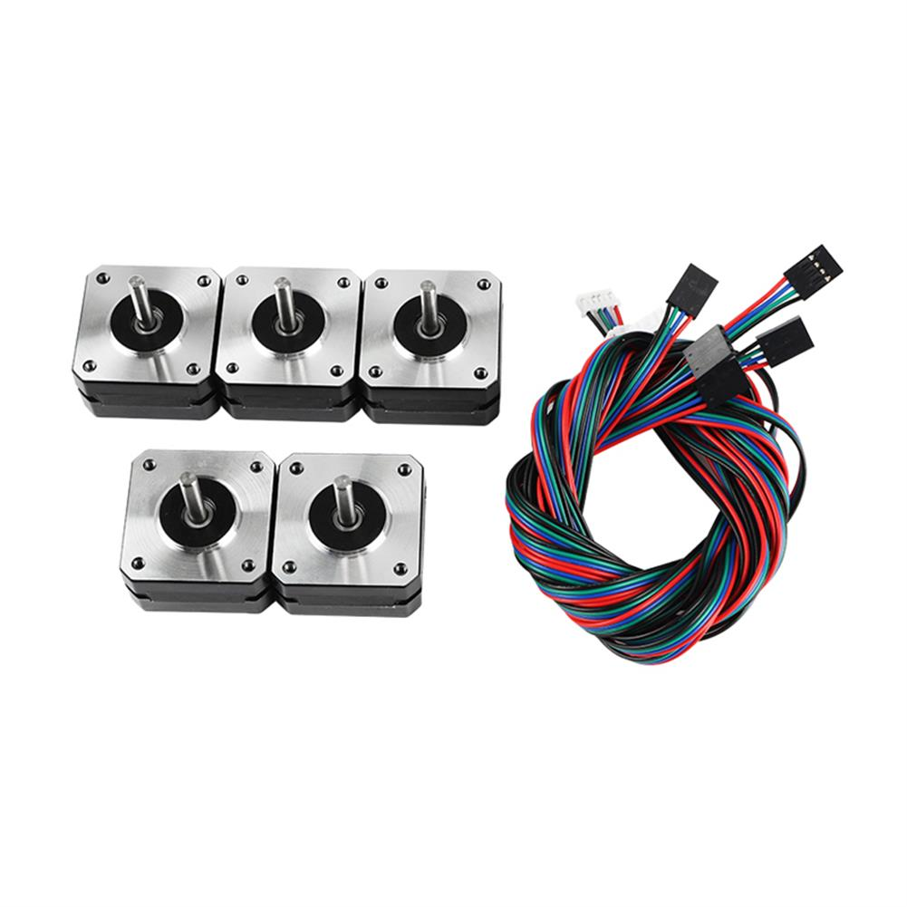 3d-printer-accessories 5Pcs 17HS4023 42*42*23mm Stepper Motor with Cable for 3D Printer Part HOB1594021 1