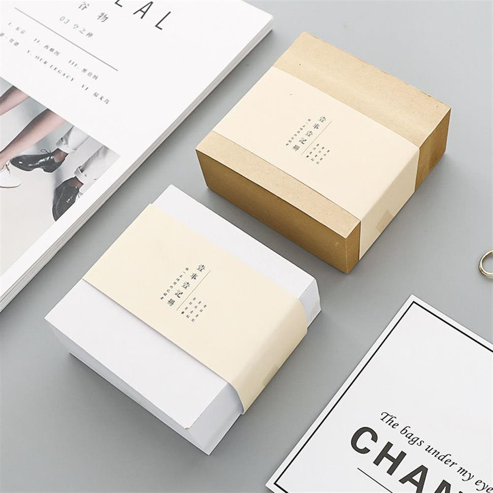 paper-notebooks 1 Piece Thickened Square Bricks Notes N times Sticky Notes Simple Stationery Blank Tearable Notes Adhesive Sticky Notes 400 Sheets/set 0732 HOB1594483 1
