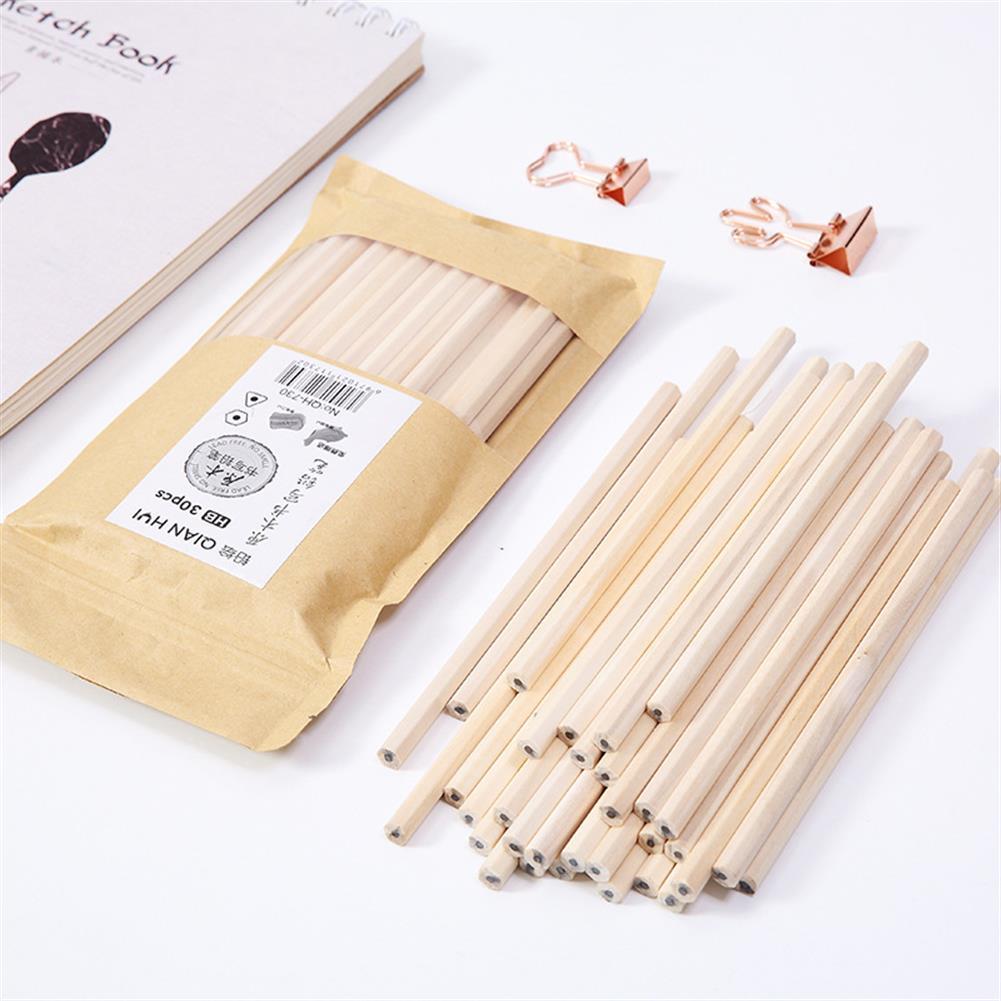 gel-pen 30 Pcs/set Environmentally Friendly Wood Pencil Set Kindergarten Students HB Pencil office Painting Sketch Pencils HOB1595518 1