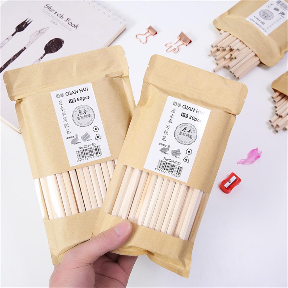 gel-pen 30 Pcs/set Environmentally Friendly Wood Pencil Set Kindergarten Students HB Pencil office Painting Sketch Pencils HOB1595518 2 1