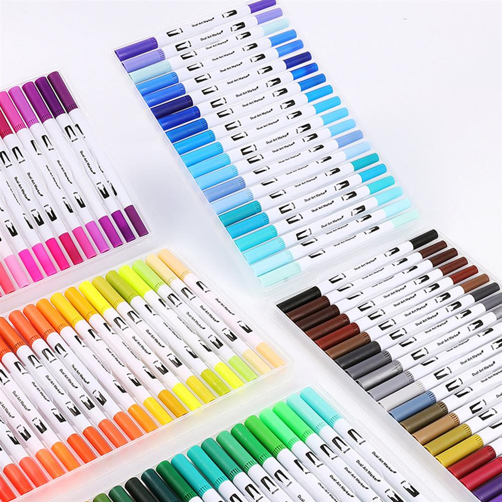 watercolor-paints D93162 1 Piece 12/24/36/4872/100 Colors Marker Pens Set Double-headed Colored Marker Pen Hand Painting Artist Pens Gifts for Kids Childrens HOB1595678 1 1