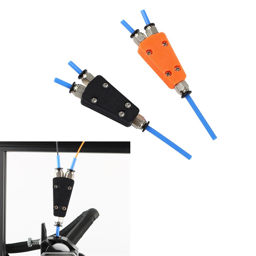 3d-printer-accessories 2-in-1 Out Pneumatic Connector Module for Ender-3 Extruder Feed 3D Printer 2-color Print HOB1595777 1