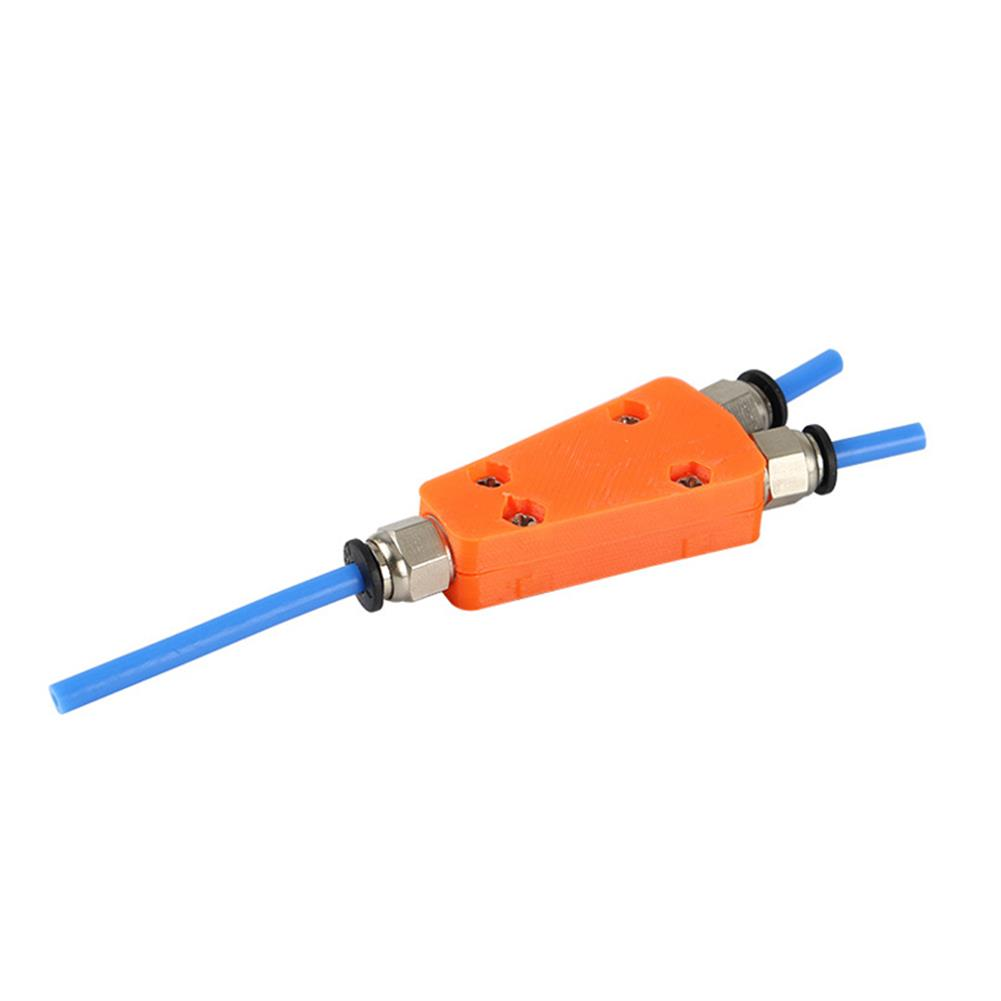 3d-printer-accessories 2-in-1 Out Pneumatic Connector Module for Ender-3 Extruder Feed 3D Printer 2-color Print HOB1595777 3 1