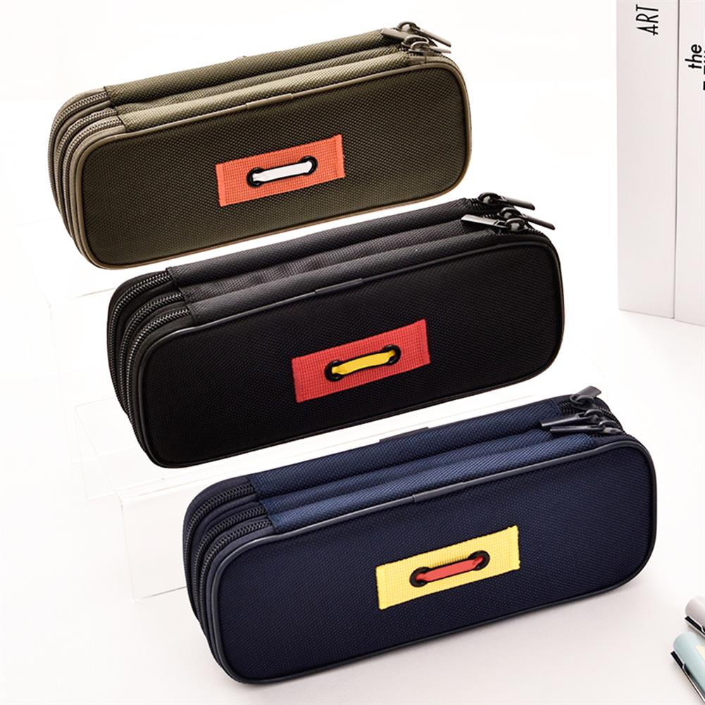 pencil-case 1 Piece Large Capacity 3 Layers Pencil Case Cute Pen Bag Zipper Storage Box Pouch office School Stationary Supplies HOB1596429 1