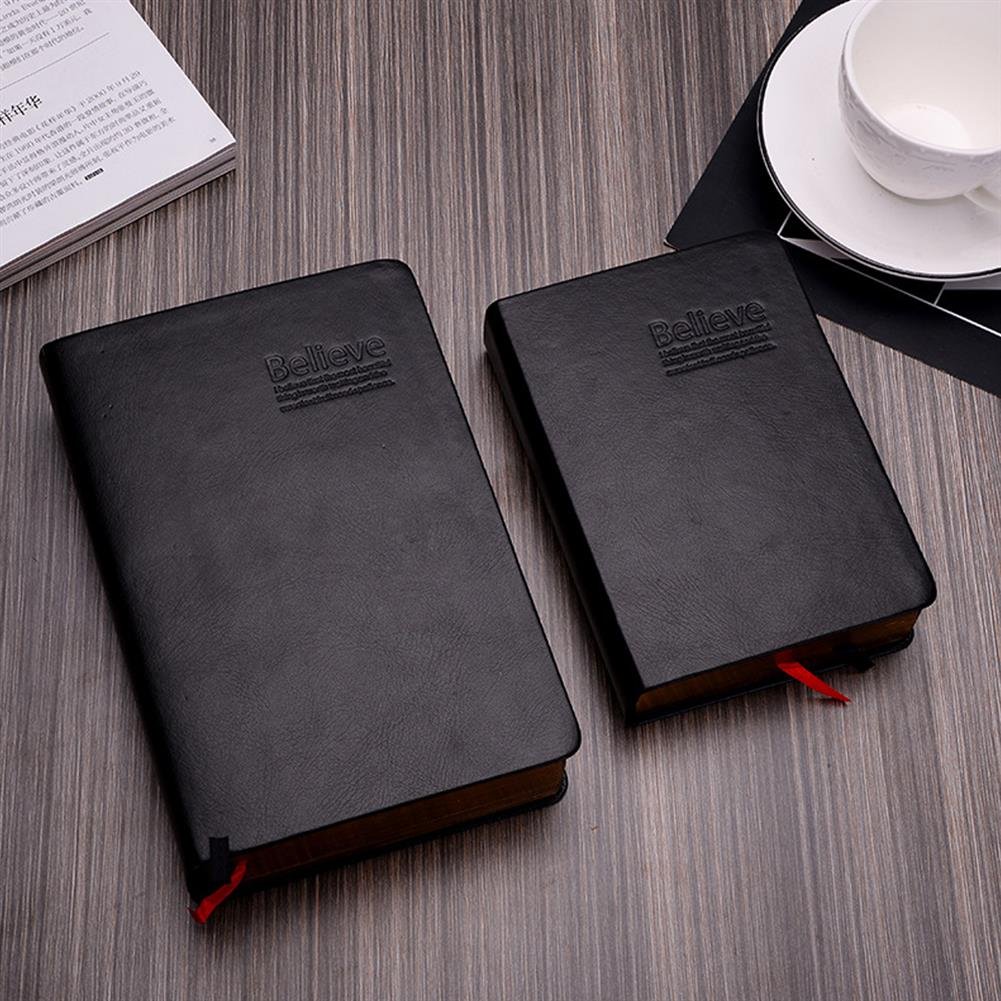 paper-notebooks 1 Piece Large Size Thicken Bible Notebook Leather Cover Journal Diary Notepad office School Stationery Writing Supplies HOB1596458 1