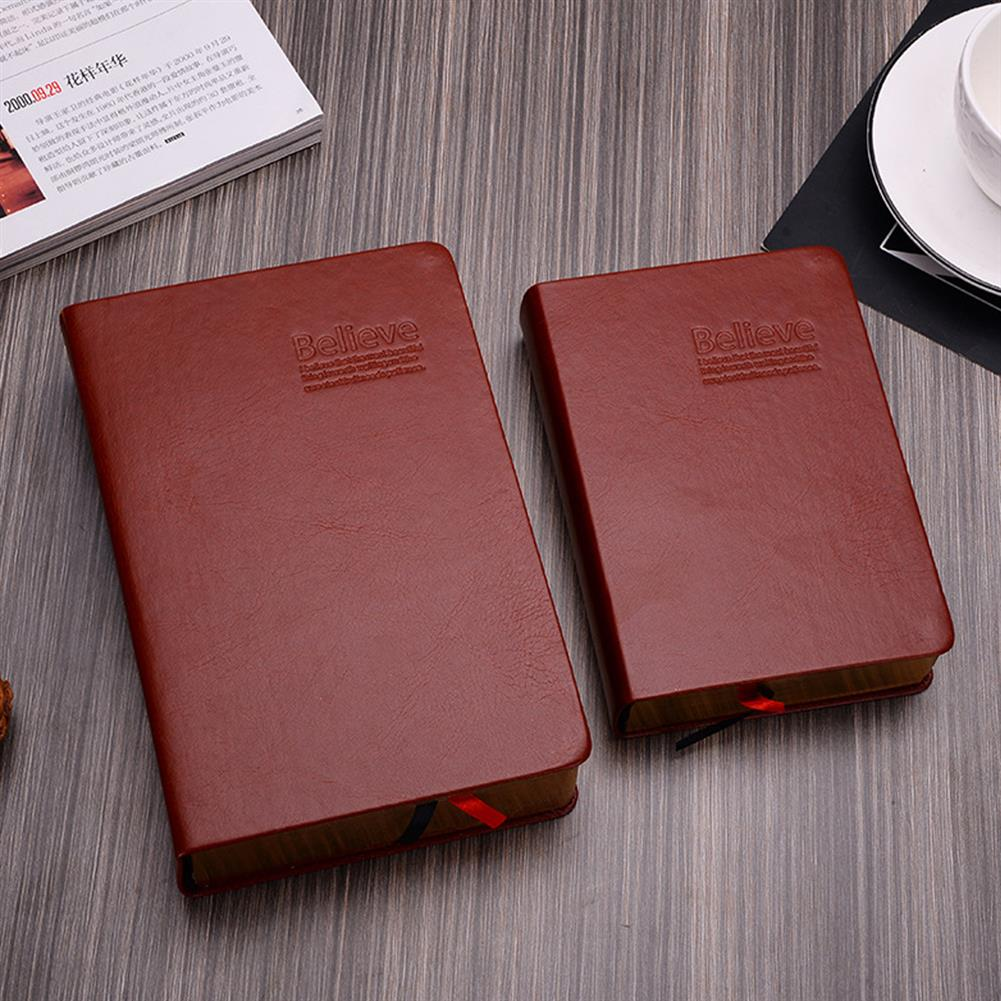 paper-notebooks 1 Piece Large Size Thicken Bible Notebook Leather Cover Journal Diary Notepad office School Stationery Writing Supplies HOB1596458 1 1