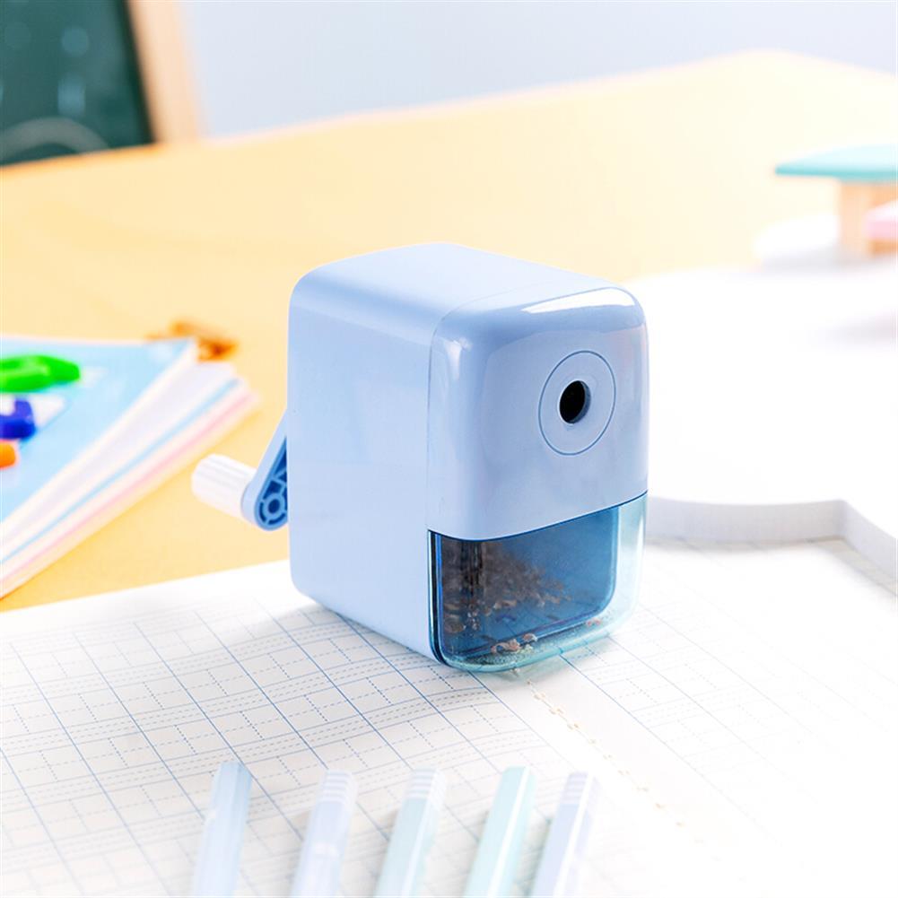 pencil-sharpener Deli 71158 Plastic Manual Pencil Sharpener Automatic Feeding Hand Pencil Cutter office School Students Stationery Supplies HOB1596705 2 1