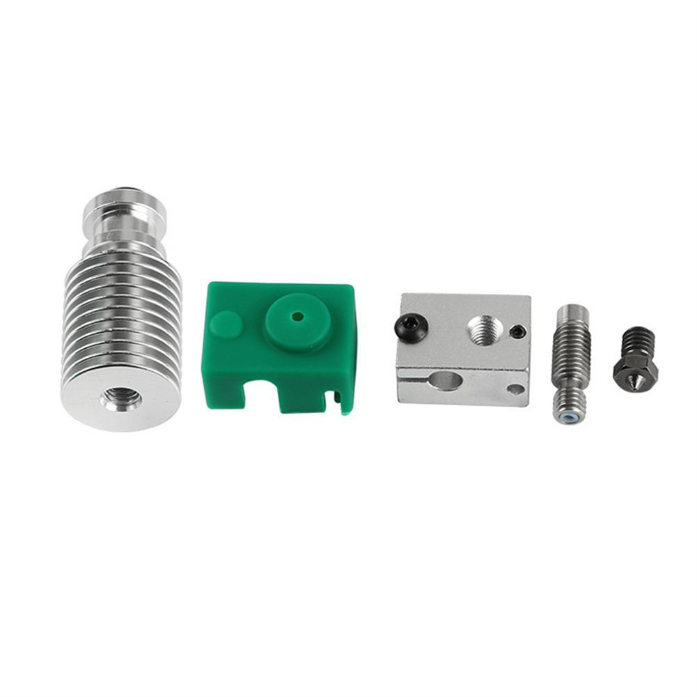 3d-printer-accessories Upgraded Extruder Hotend HeatSink Kit PT100 V6 Heating Block for 1.75mm Prusa i3 3D Printer HOB1596820 1