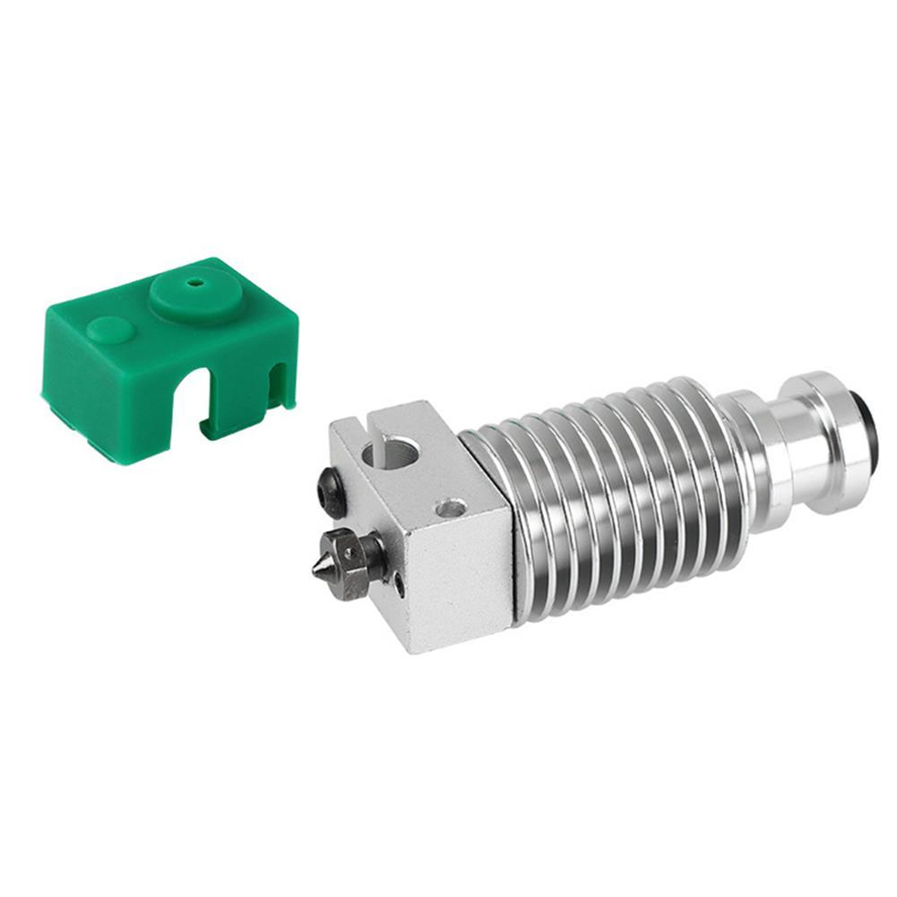 3d-printer-accessories Upgraded Extruder Hotend HeatSink Kit PT100 V6 Heating Block for 1.75mm Prusa i3 3D Printer HOB1596820 1 1