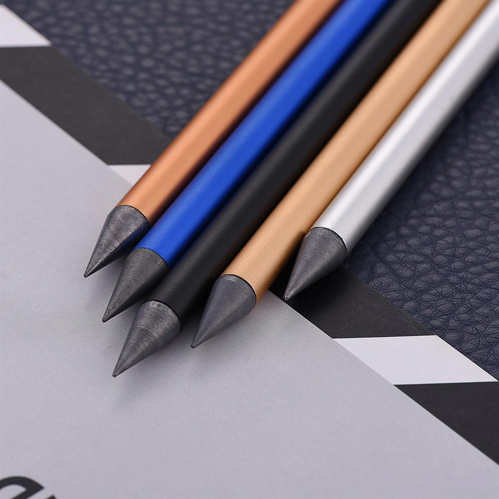 pencil ZKE0220 Full Metal No ink Fountain Pen Luxury Eternal Pen Gift Box inkless Pen Beta Pens Writing Stationery office School Supplies HOB1597548 2 1