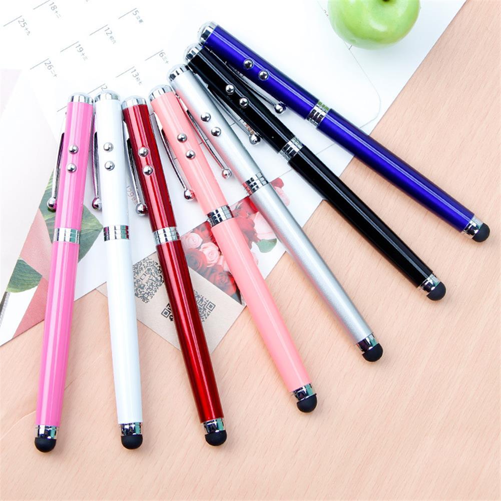 ballpoint-pen 4 in 1 Multifunctional LED Light Touch Screen Capacitor Pen Laser Pointer Handheld Ballpoint Pen Electronic Touch Pen Random Color HOB1598089 2 1