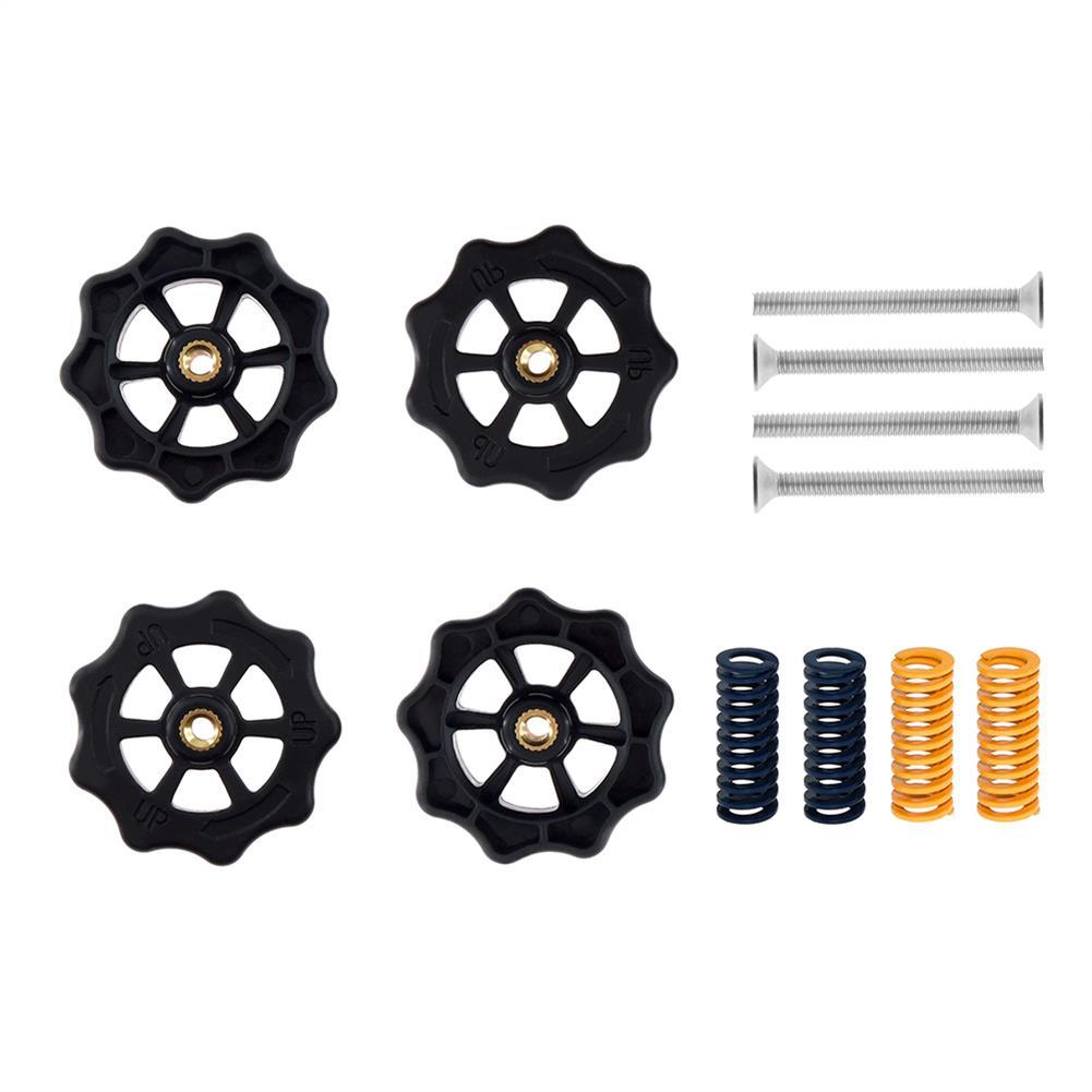 3d-printer-accessories TWO TREES 4PCS Hot Bed Leveling Nut + 4PCS Spring + 4PCS M4X30 Screws Kit Replacment Parts for Creality 3D Printer HOB1601489 1
