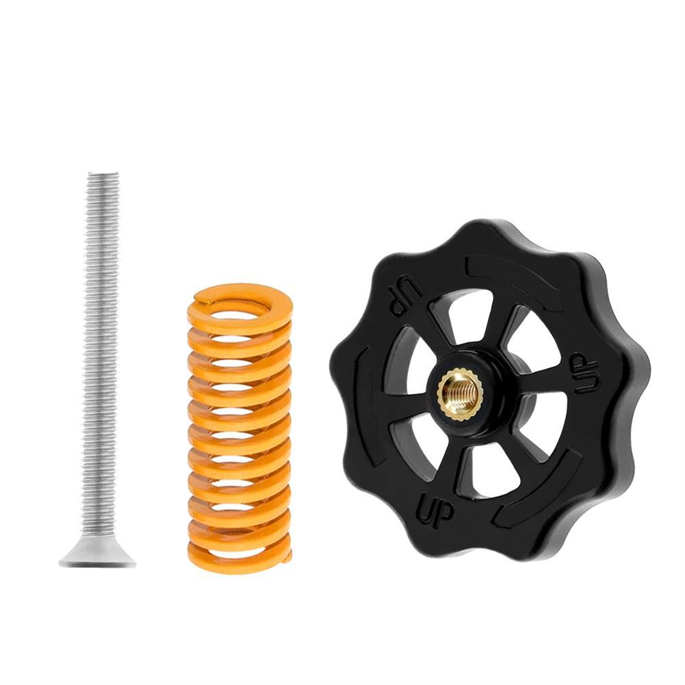 3d-printer-accessories TWO TREES 4PCS Hot Bed Leveling Nut + 4PCS Spring + 4PCS M4X30 Screws Kit Replacment Parts for Creality 3D Printer HOB1601489 1 1