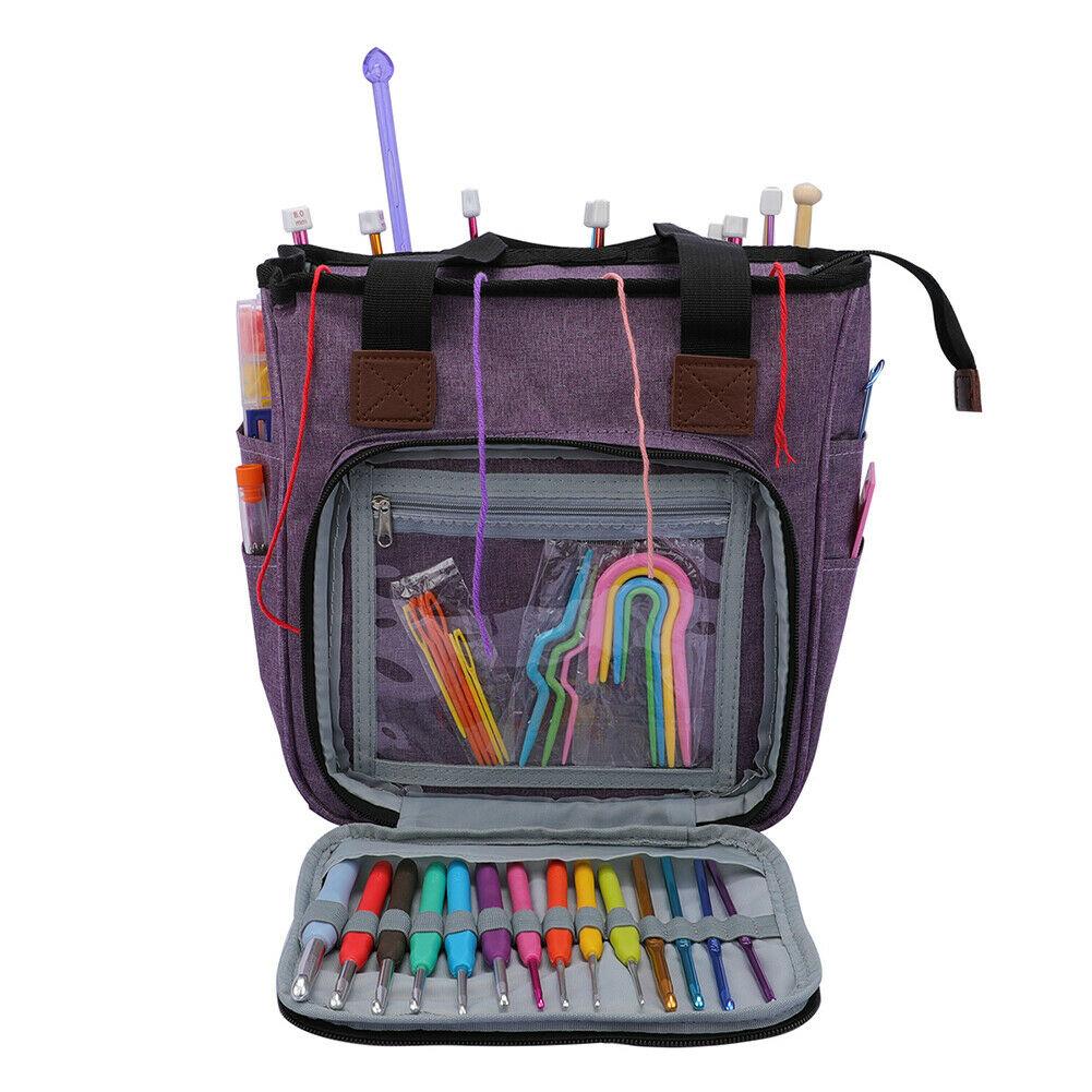 pencil-case Portable Knitting Bag Crafts Wool Crochet Storage Bags Handbag Desktop Sewing Needles Organizer HOB1602417 1
