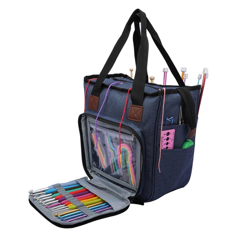 pencil-case Portable Knitting Bag Crafts Wool Crochet Storage Bags Handbag Desktop Sewing Needles Organizer HOB1602417 1 1