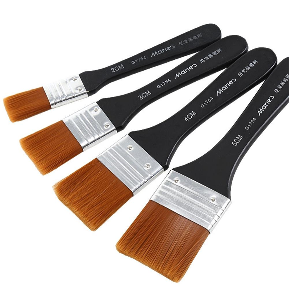 watercolor-paints Marie's G1754 1 Piece Nylon Hair Painting Brush Oil Watercolor Acrylic Various Sizes Paint Brushes School Art Supplies HOB1603798 1