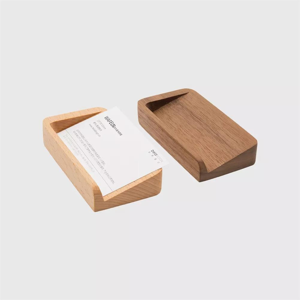 other-learning-office-supplies betaDESIGN Creative Wooden Waffles Shaped Business Card Holder office Desktop Display Stand Organizer Name Card Base Storage Box from XM HOB1604482 1