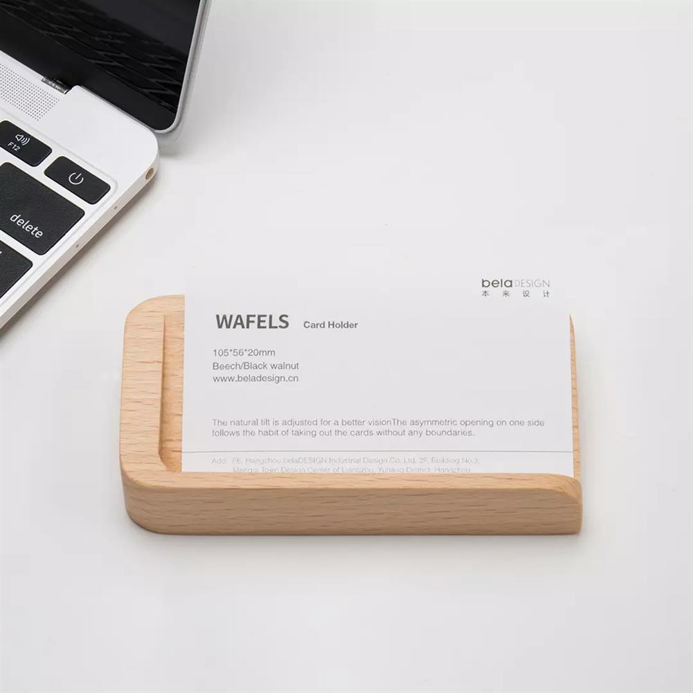 other-learning-office-supplies betaDESIGN Creative Wooden Waffles Shaped Business Card Holder office Desktop Display Stand Organizer Name Card Base Storage Box from XM HOB1604482 1 1