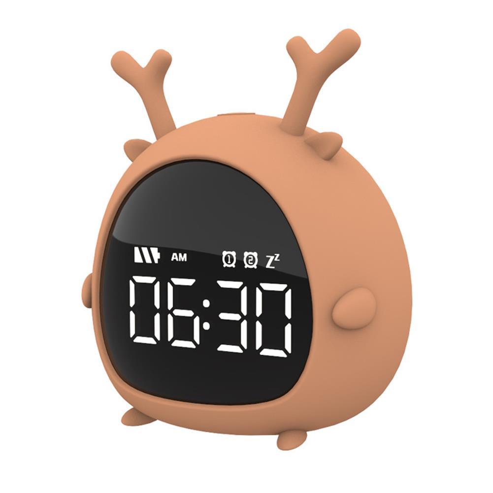 desktop-off-surface-shelves Little Elf Alarm Clock Digital LED Table Alarm Clock Snooze Countdown Rechargeable Cartoon Clock HOB1607885 1 1