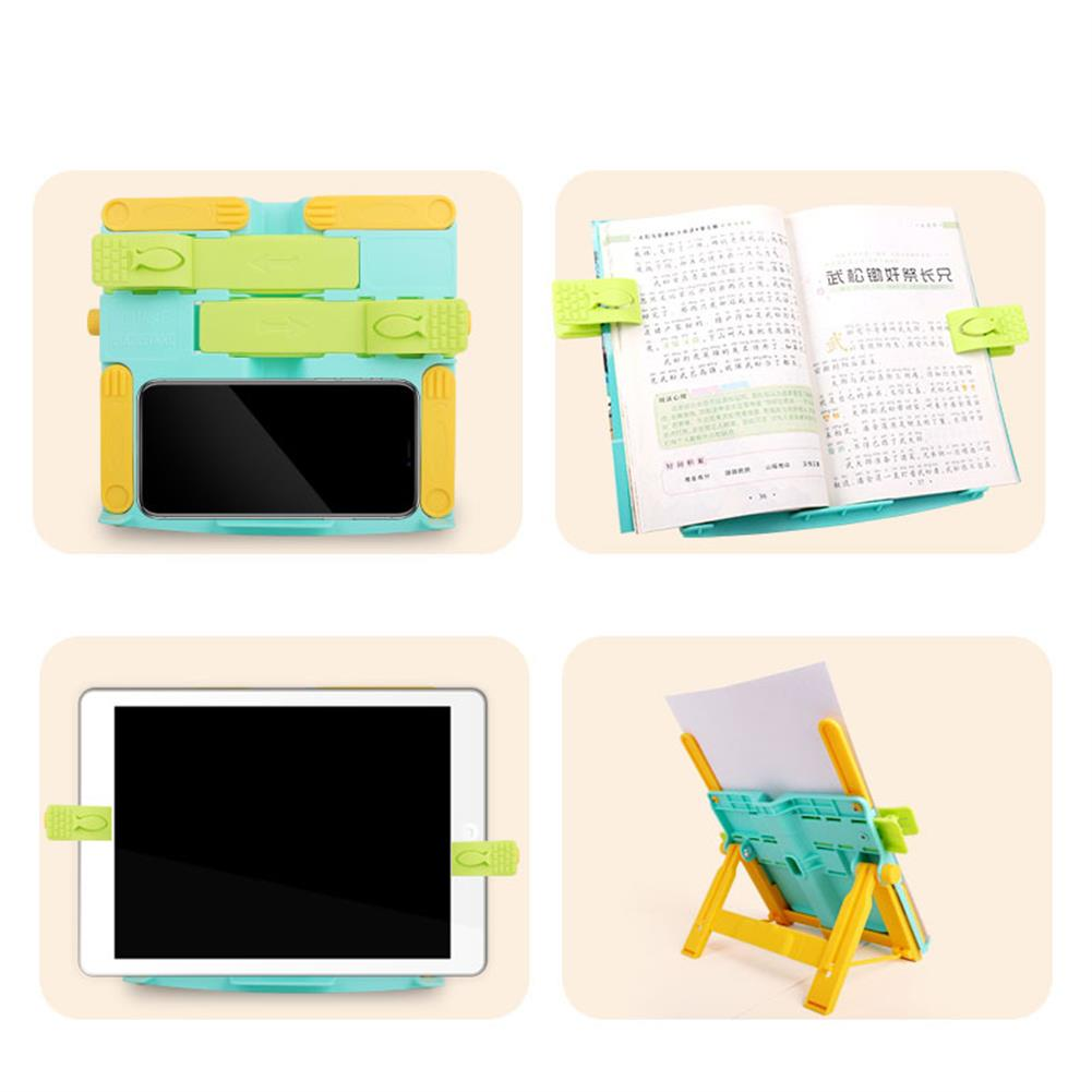 gel-pen Portable Book Stand Bookends Reading Books Bracket Recipes Shelf Folding Holder Organizer HOB1608623 2 1