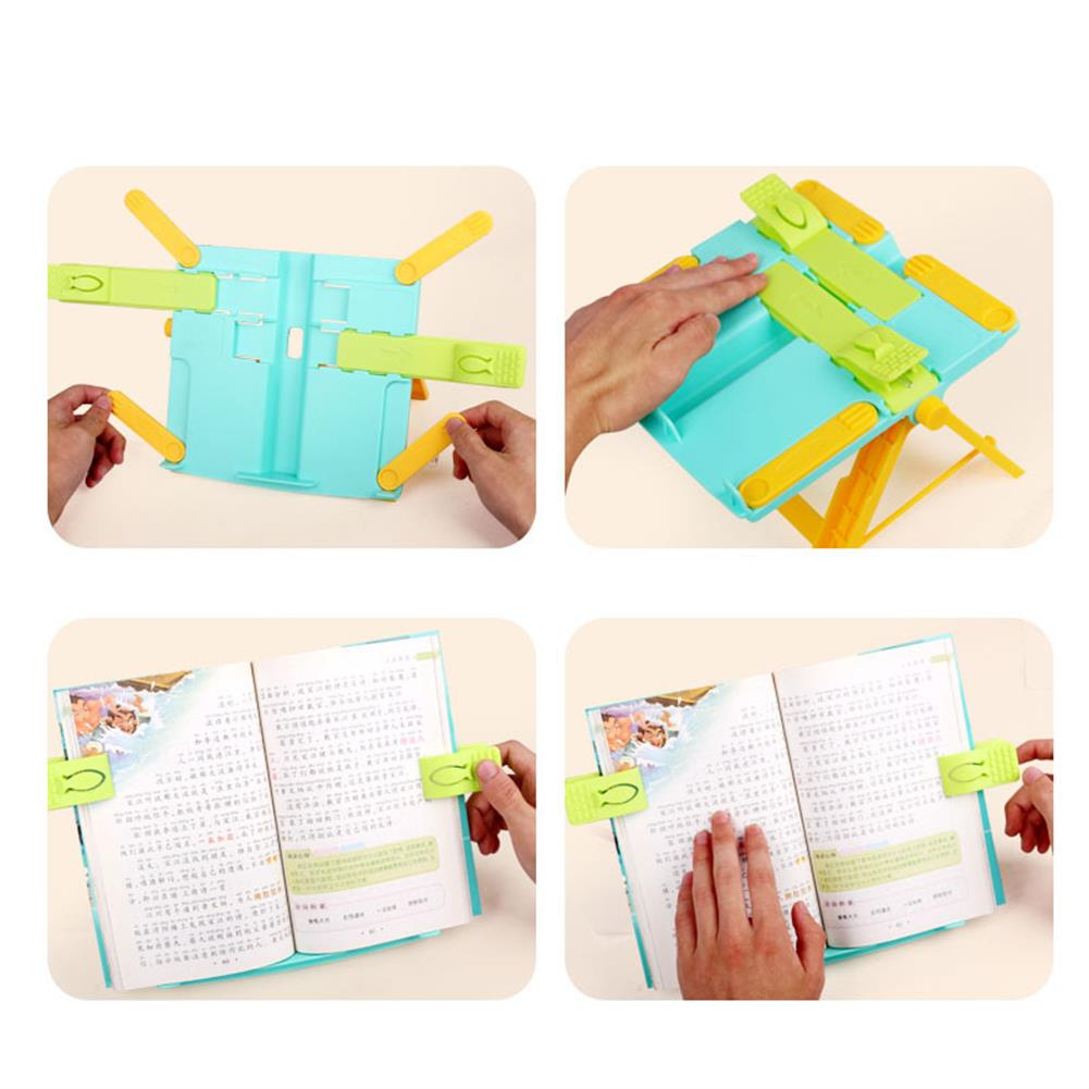 gel-pen Portable Book Stand Bookends Reading Books Bracket Recipes Shelf Folding Holder Organizer HOB1608623 3 1