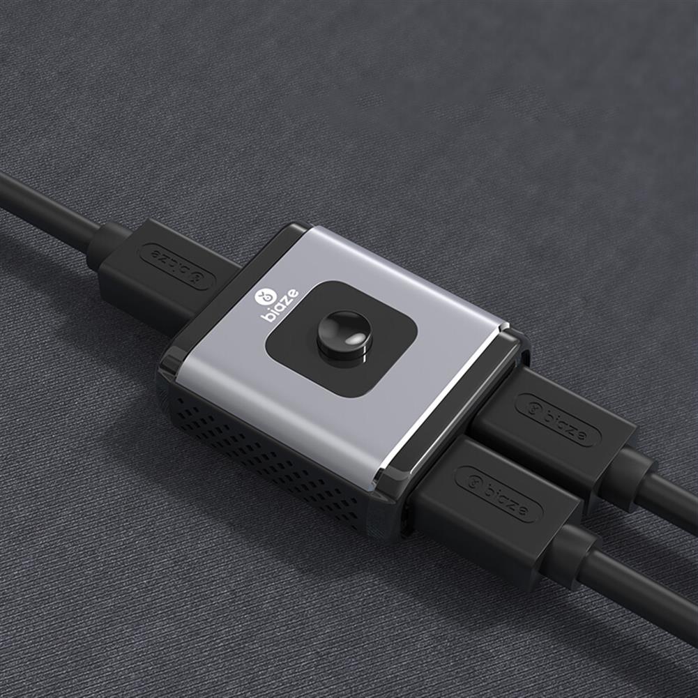 video-cables-connectors BIAZE HQ8 HD Splitter Switcher 1 input 2 output / 2 input 1 output Video Switcher 2 Way Switch 4K HD 3D Video Splitter for Computer Laptop Set-top Box Projector PS3/4 HOB1609528 1 1