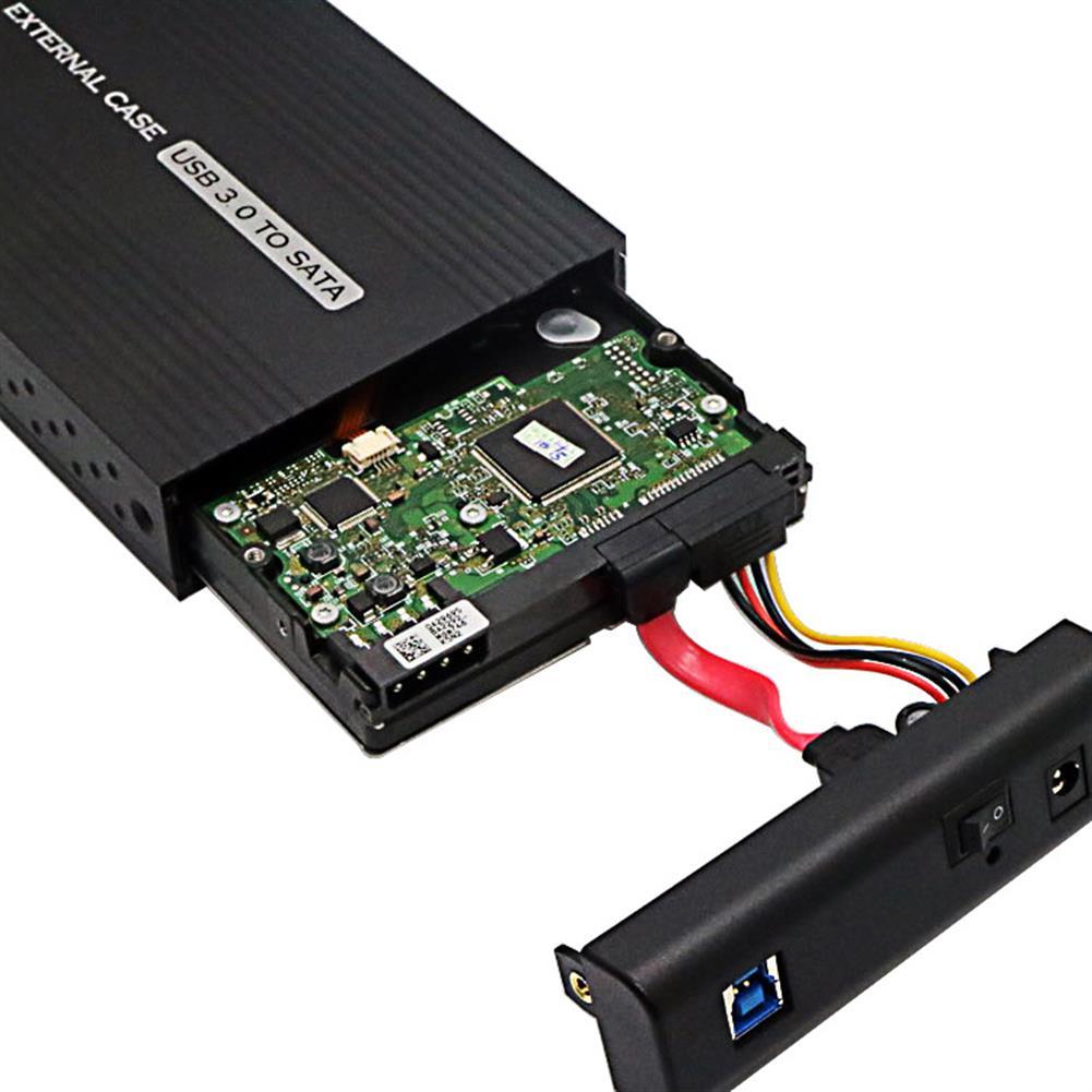 hdd-ssd-enclosures HONWIN CS-S352U3 3.5 inch SSD HDD Enclosure USB3.0 to SATA Solid State Hard Drive Case Hard Drive Disk Enclosure for Windows HOB1611414 3 1