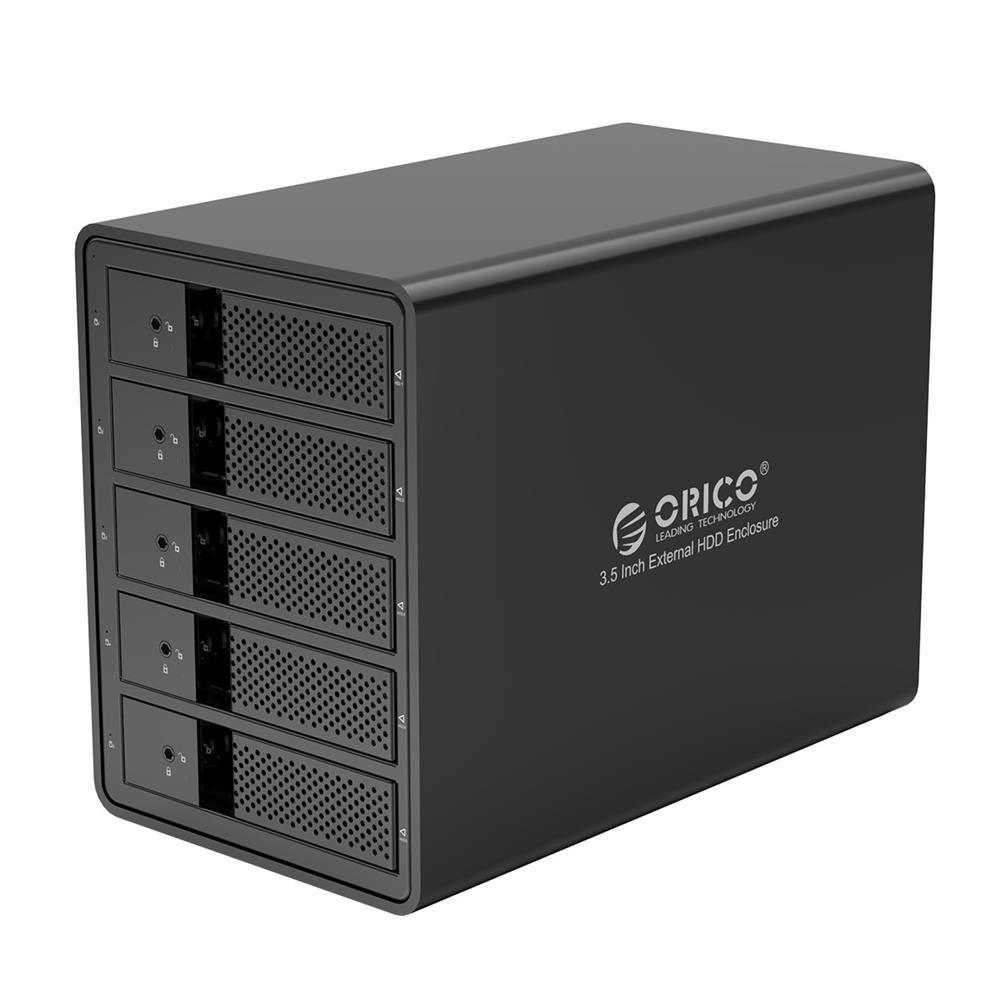 hdd-ssd-enclosures ORICO 9558U3 3.5-inch External Hard Drive Enclosure Aluminum Alloy SATA to USB3.0 5Gbps Multi-Bay Data Shelter HDD SSD Dock HOB1612517 1