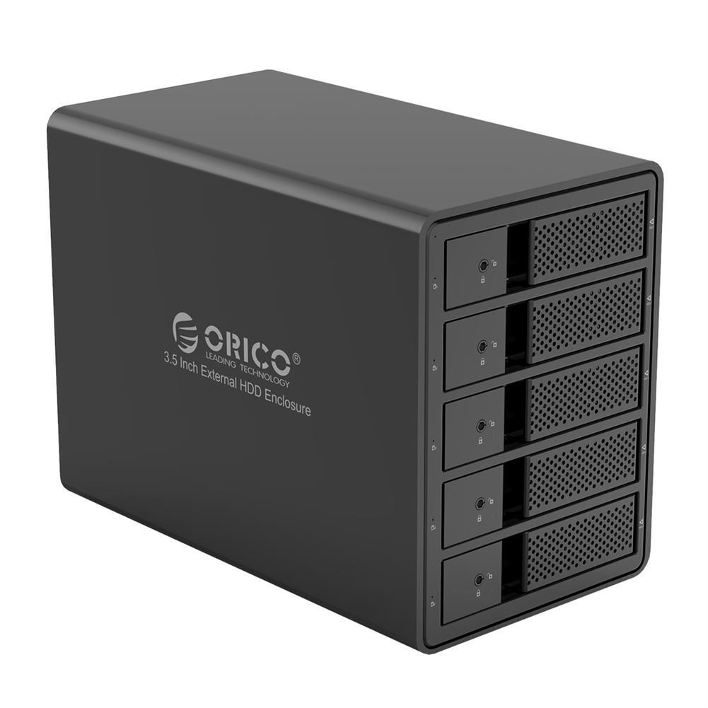 hdd-ssd-enclosures ORICO 9558U3 3.5-inch External Hard Drive Enclosure Aluminum Alloy SATA to USB3.0 5Gbps Multi-Bay Data Shelter HDD SSD Dock HOB1612517 1 1