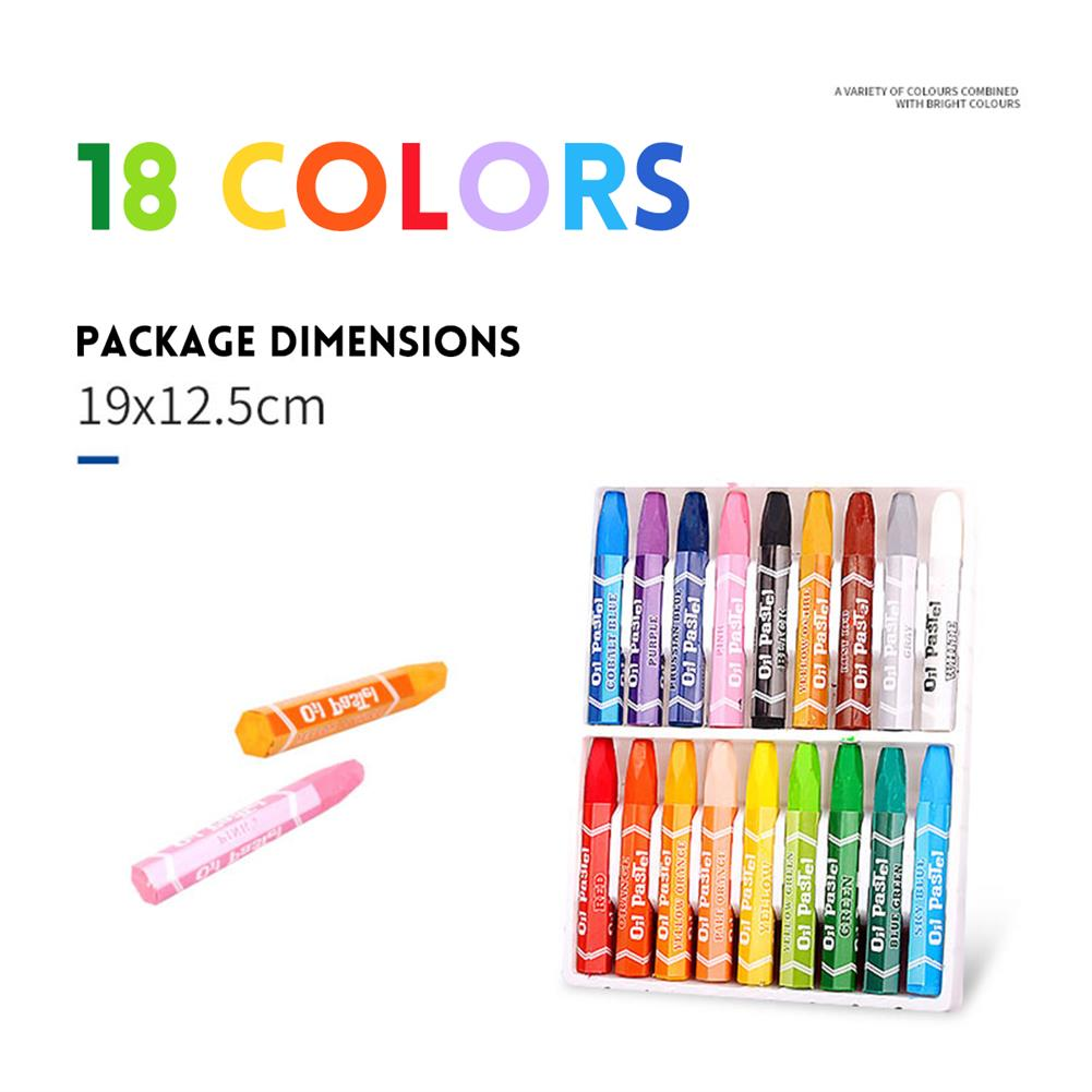 gel-pen 12/18/24/36 Colors Oil Pastels Non-Toxic Crayon Drawing Painting Pens Artists Students Art Supplies Gifts for Childrens HOB1613615 1 1