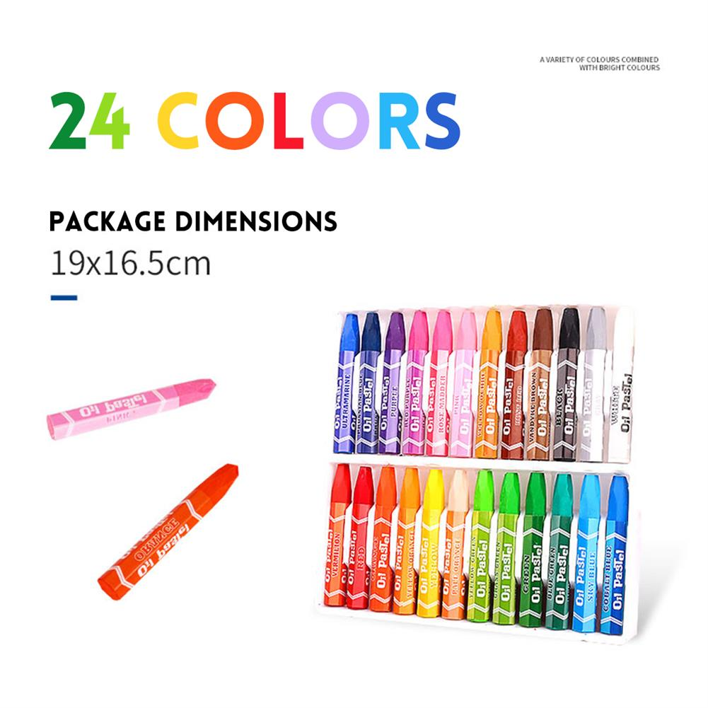 gel-pen 12/18/24/36 Colors Oil Pastels Non-Toxic Crayon Drawing Painting Pens Artists Students Art Supplies Gifts for Childrens HOB1613615 3 1