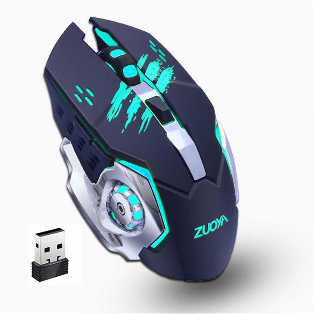 mouse ZUOYA MMR4 Wireless Mouse 2.4GHz Receiver LED Mute Silent Rechargeable USB Gaming Computer Optical Game Mice for Laptop PC Computer HOB1614283 1 1