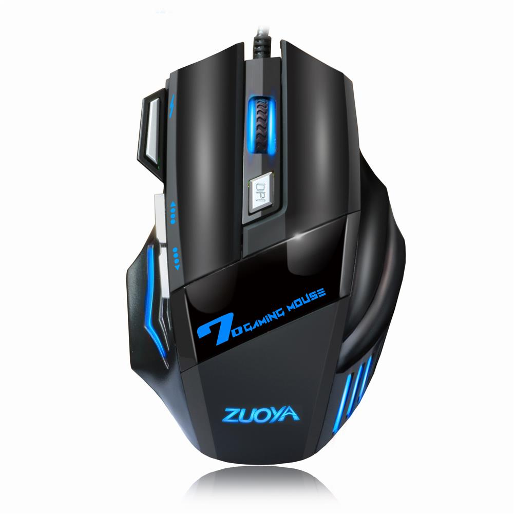 mouse ZUOYA MMR3 Wired Mechanical Gaming Mouse 7 Keys 5500DPI LED Optical USB Mouse Mice Game Mouse Silent/Sound Mouse for PC Computer Pro Gamer HOB1615039 1