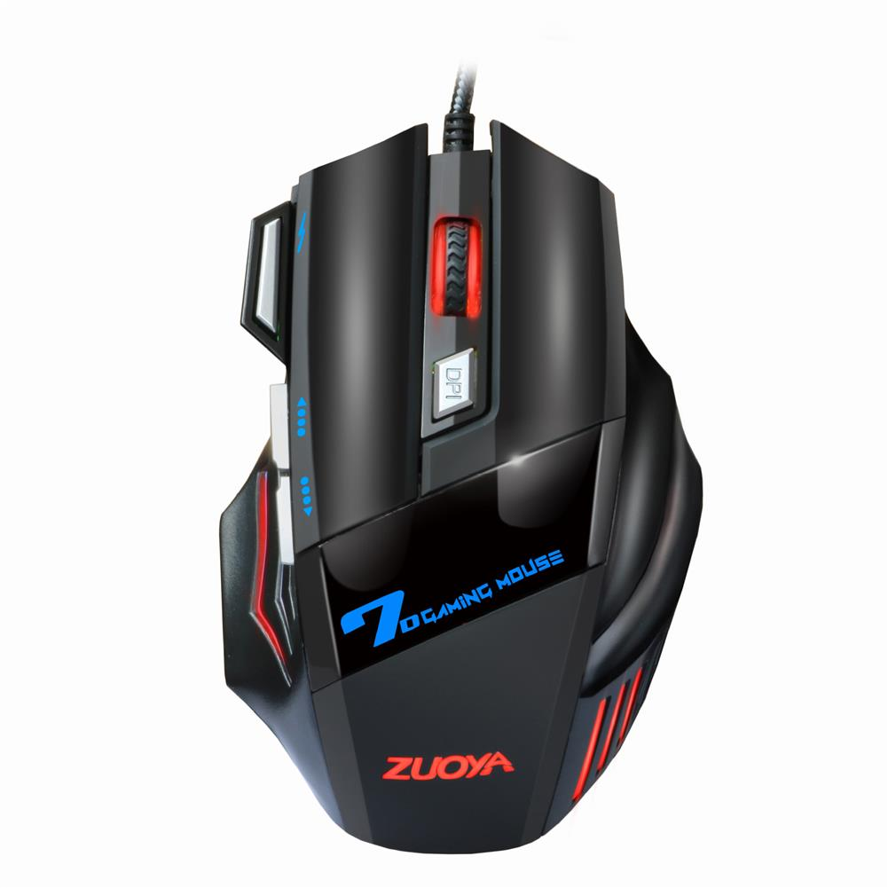 mouse ZUOYA MMR3 Wired Mechanical Gaming Mouse 7 Keys 5500DPI LED Optical USB Mouse Mice Game Mouse Silent/Sound Mouse for PC Computer Pro Gamer HOB1615039 1 1