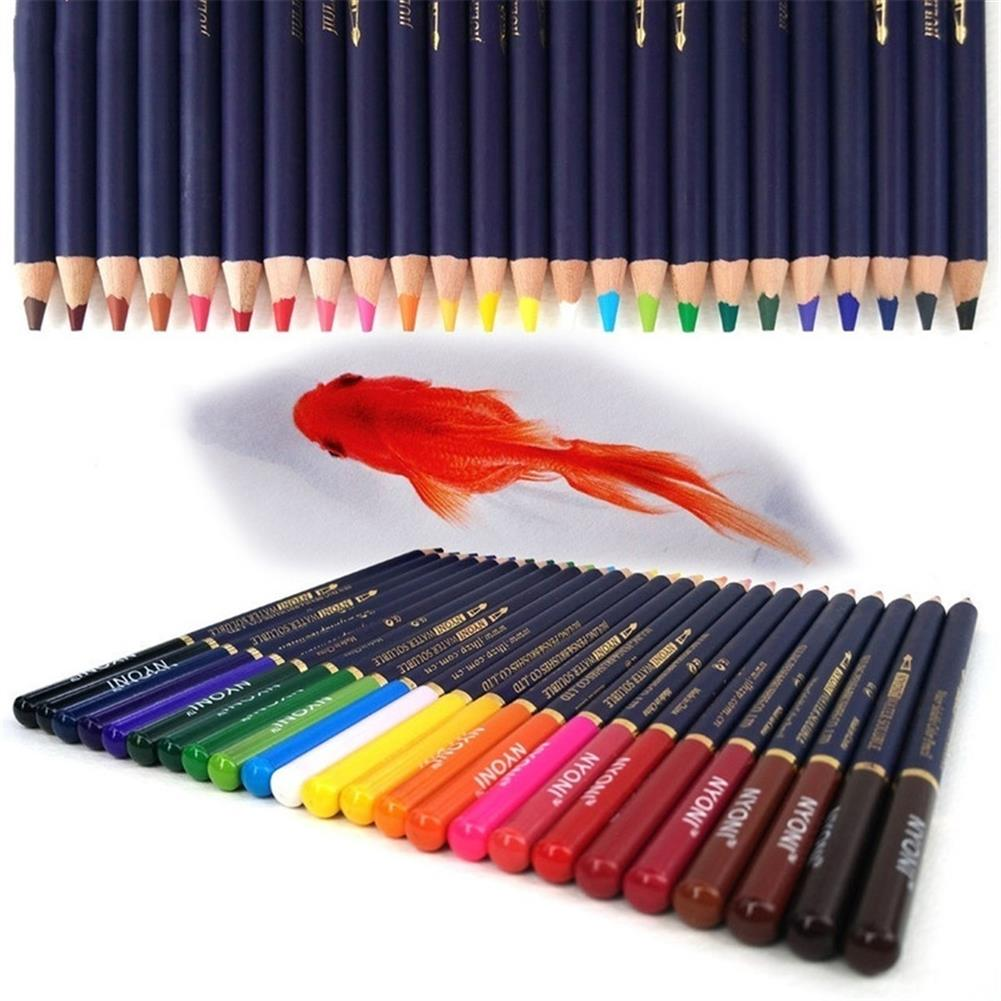 pencil 12/24/36/48/72 Color Pencils Set Dry Coloring Painting Pencil Water Soluble Color Pens Brush Painting Stationery for Artist HOB1615187 2 1