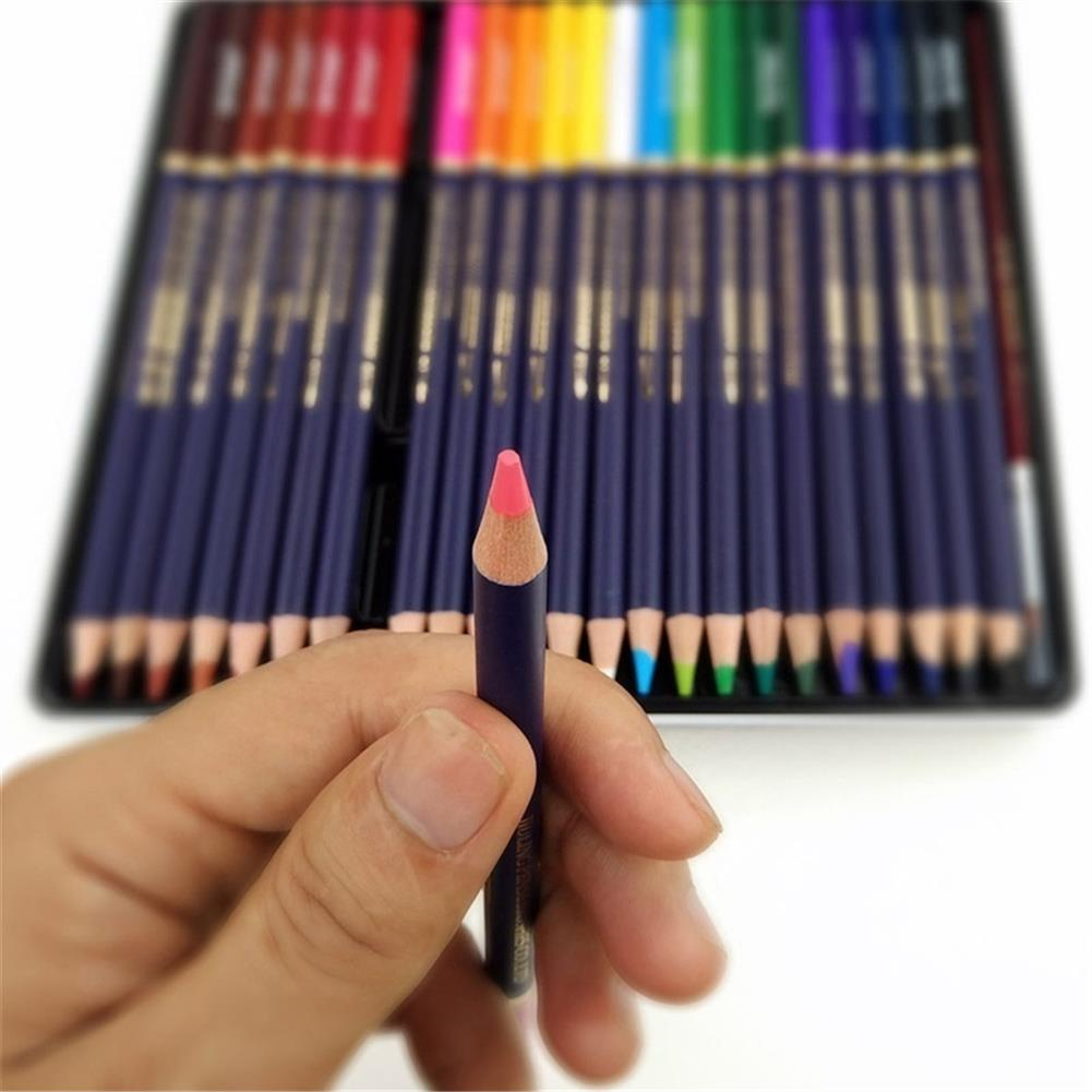 pencil 12/24/36/48/72 Color Pencils Set Dry Coloring Painting Pencil Water Soluble Color Pens Brush Painting Stationery for Artist HOB1615187 3 1