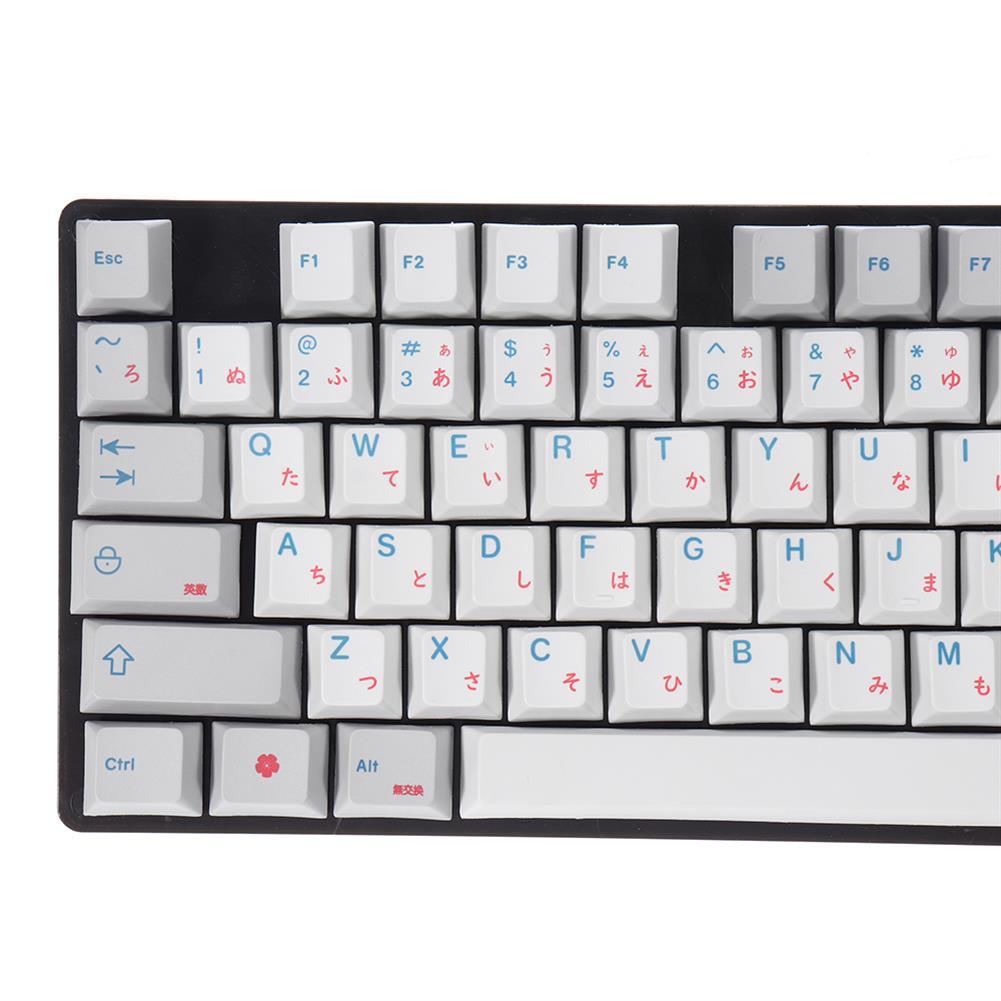 keycaps-switches MechZone 96 Keys Grey Keycap Set Cherry Profile PBT Sublimation Japanese Keycaps for Mechanical Keyboard HOB1618221 3 1