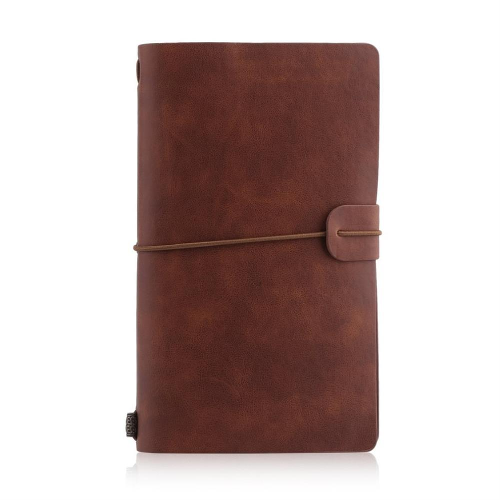 paper-notebooks 1 Pcs Portable Students School Stationery Writing Notebook Business Travel Diary with PU Cover HOB1619985 1