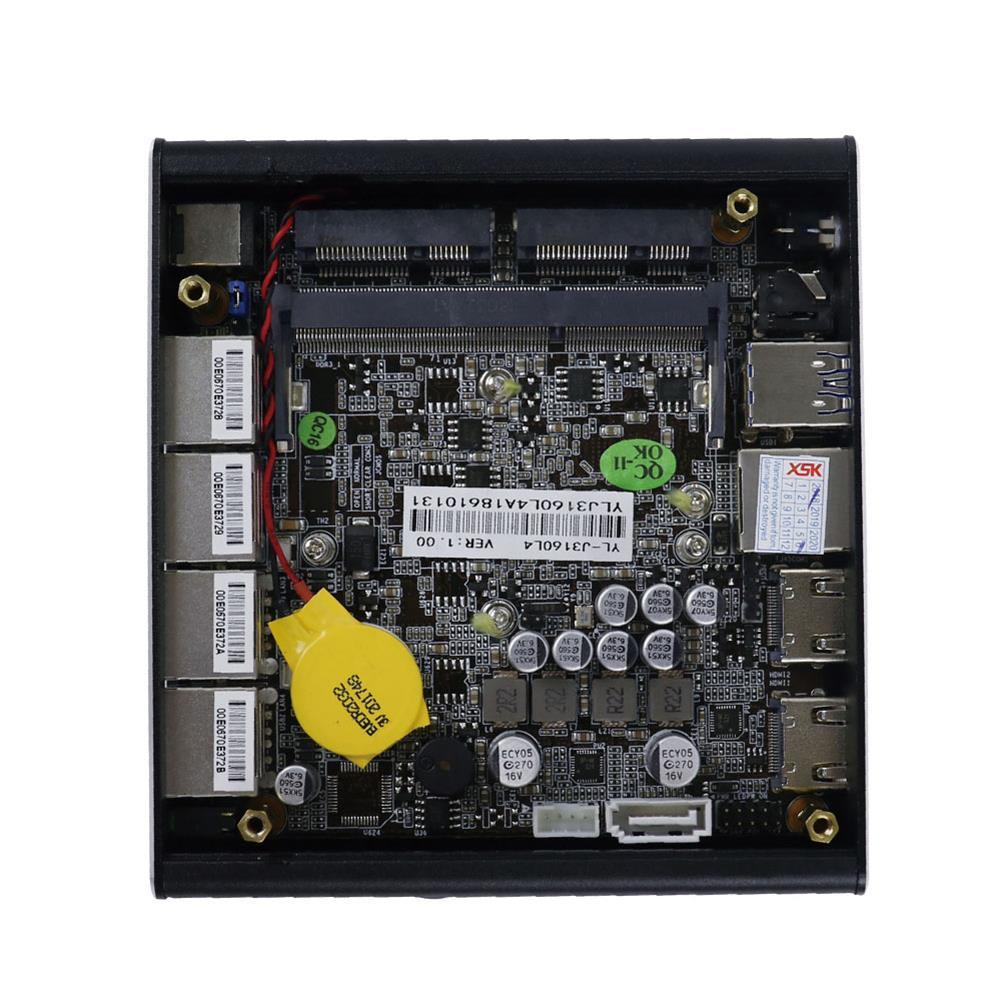 mini-pc XSK NUC intel Celeron J3160 Barebone Mini PC Quad Core 1.6GHz to 2.24GHz Pfsense AES-NI HOB1620978 3 1