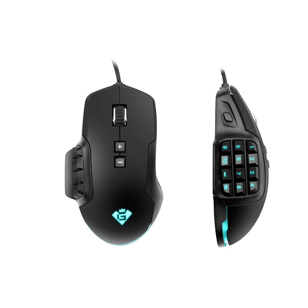 mouse Rocketek GM900 USB Wired Multi-Buttons Gaming Mouse 24000DPI 17 Buttons Laser Programmable Game Mice with 8 Backlight Modes Ergonomic Mouse for Laptop Computer PC HOB1623950 3 1