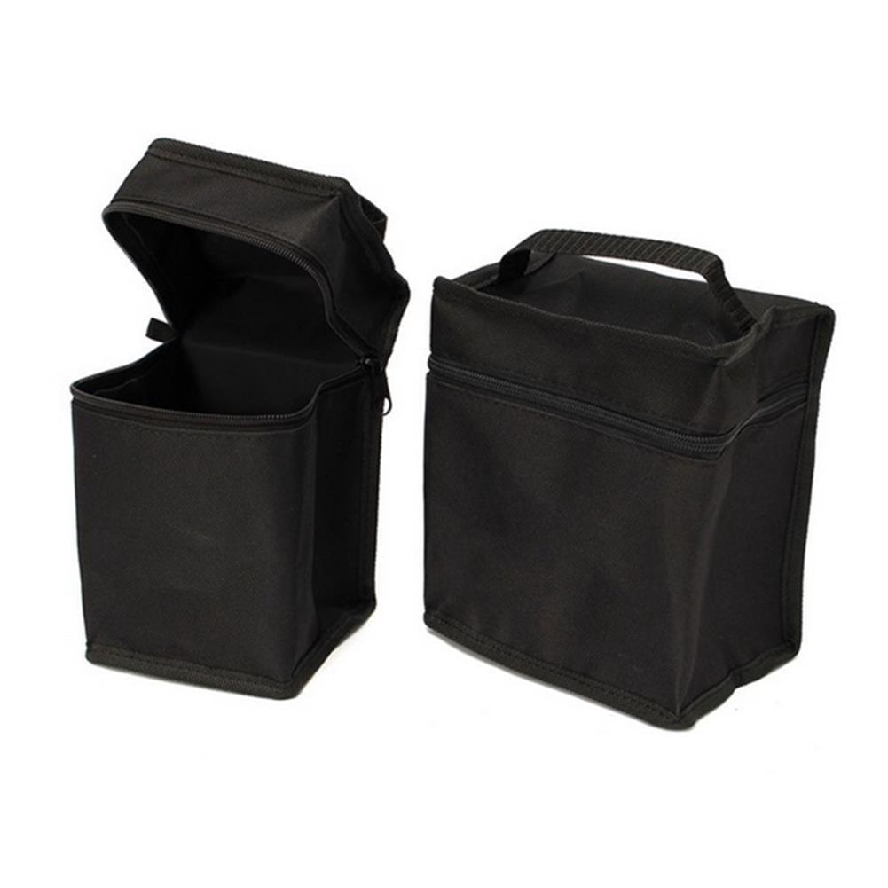 pencil-case Portable Marker Pen Bag for 24/36/48/60/80 Pcs Color Markers Square Large Capacity Zipper Canvas Storage Bag Pen Holder Case with Handle Art Painting Supplies HOB1625895 3 1