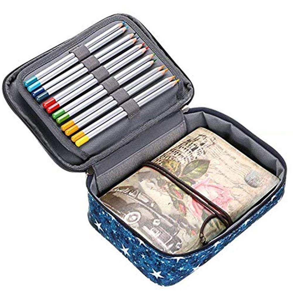 pencil-case 72 Holes Pencil Case Oxford Cloth Penal Pen Box Bag Large 5 Layers Pencilcase School Stationery Art Painting Supplies HOB1625931 3 1