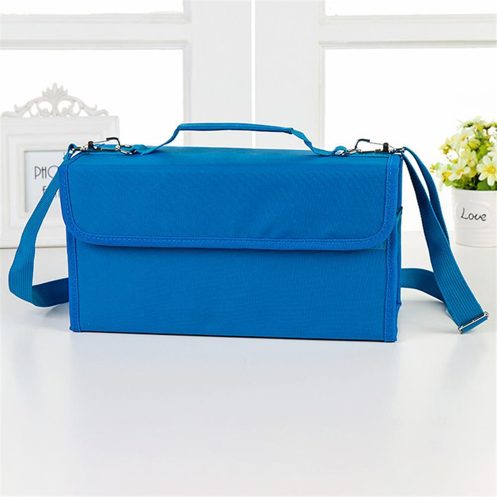 pencil-case 80 Holes Oxford Cloth Marker Pen Storage Bag Portable Markers Case Holder Large Capacity School Pencil Bag Art Painting Supplies HOB1626066 1 1