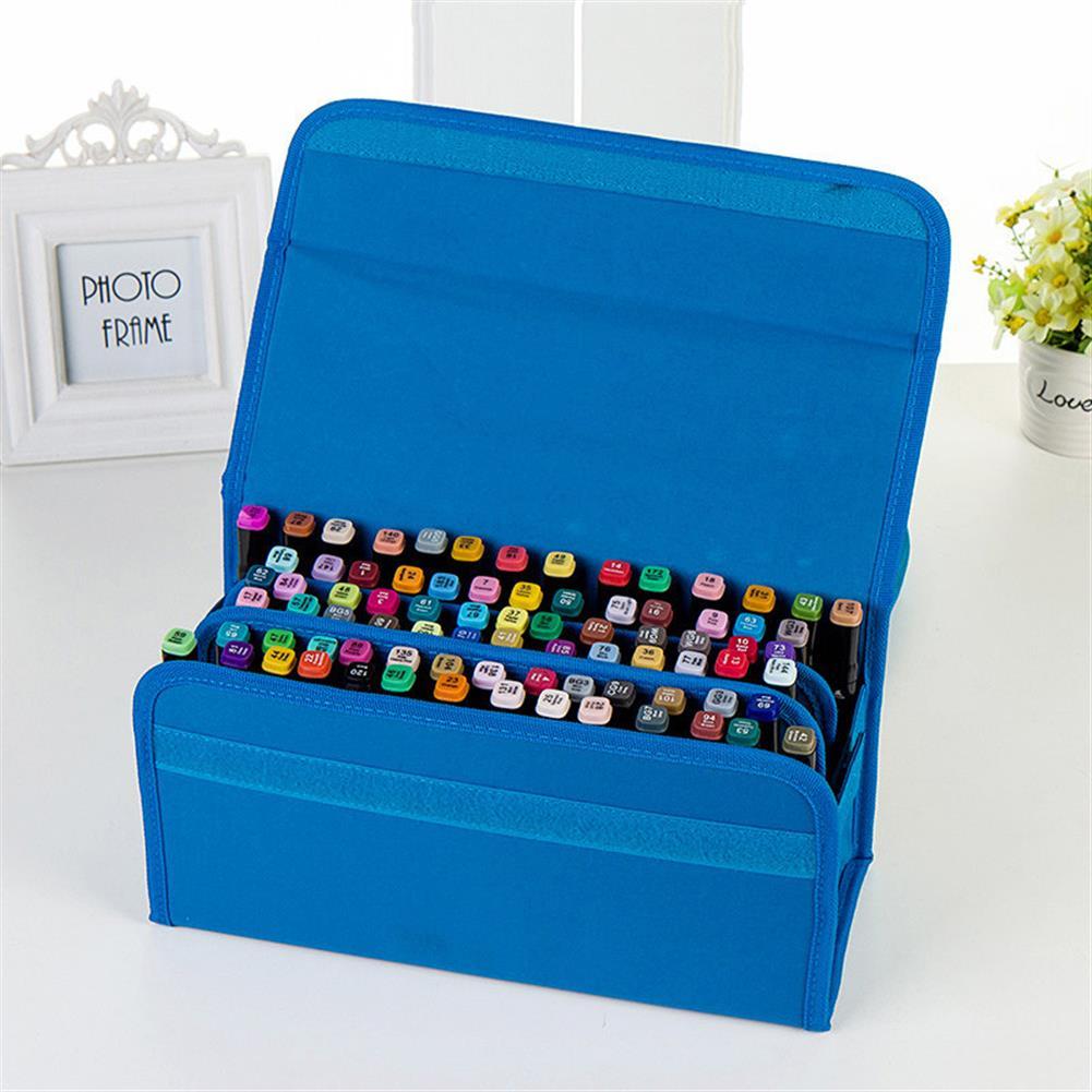 pencil-case 80 Holes Oxford Cloth Marker Pen Storage Bag Portable Markers Case Holder Large Capacity School Pencil Bag Art Painting Supplies HOB1626066 2 1