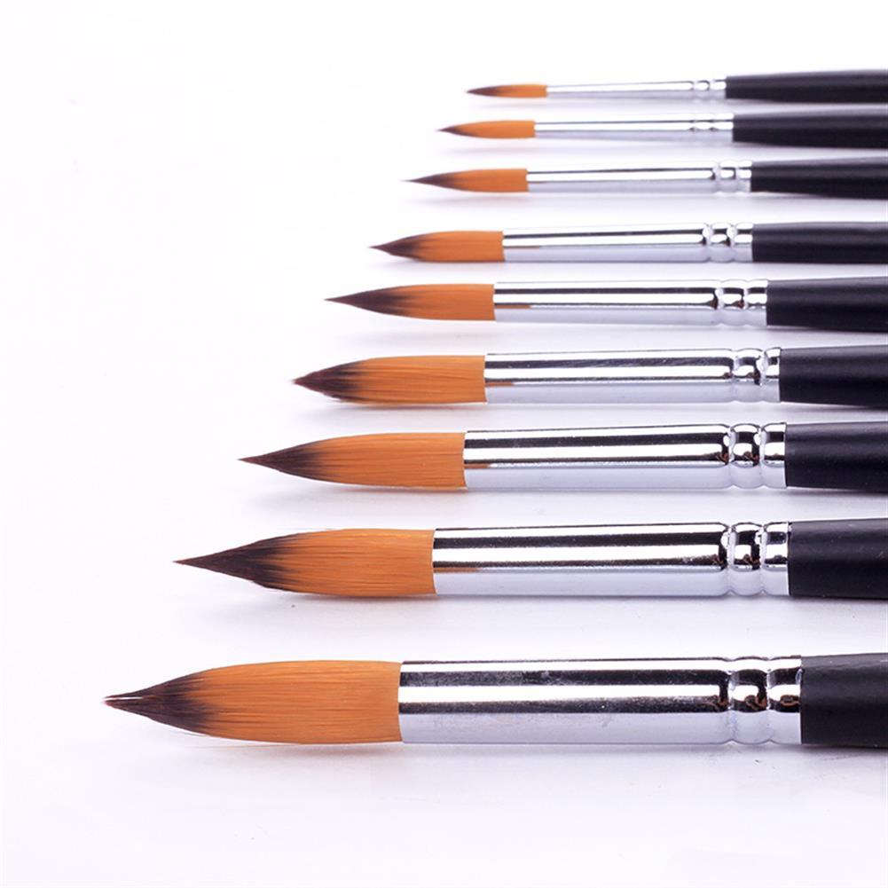 watercolor-paints BGLN 804 9 Pcs/set Long Handle Nylon Hair Watercolor Paint Brushes Gouache Acrylic Painting Brush Pens School Students Art Supplies HOB1627033 1 1
