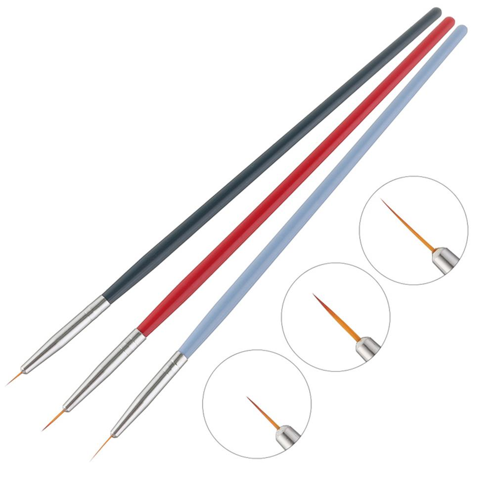 brush 3PCS Oil Painting Brush Wood Handel Nylon Hair Hook Line Pen for Watercolor Acrylic Painting Art Tools HOB1628416 1 1
