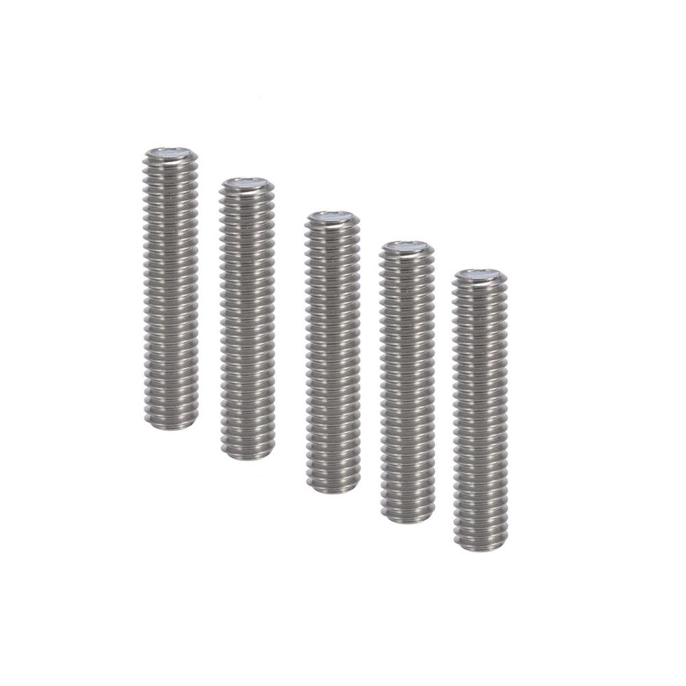 3d-printer-accessories 3Pcs Anet M6 * 40mm Stainless Steel Nozzle Extruder Throat with PTEF Tubes Pipes for 1.75mm Filament for 3D Printer HOB1630839 1 1