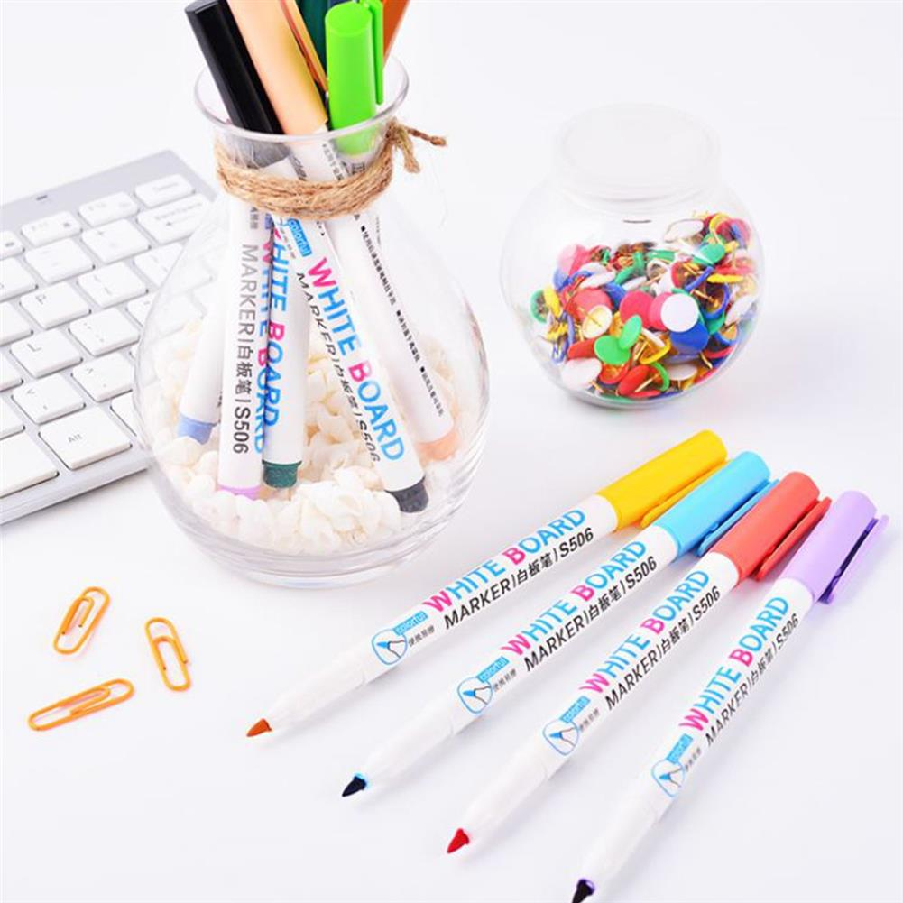 marker 12pcs Mixed Colour White Board Bright Marker Pen Set Fine bullet Tip Pens Easy Dry Wipe Stationery Painting Supplies HOB1631553 3 1