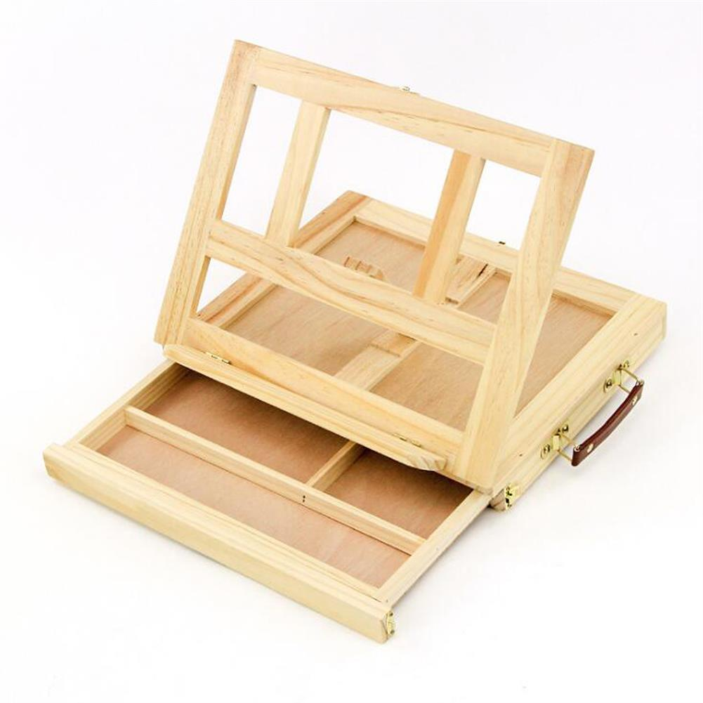 watercolor-paints Table Easel Drawer Pine Wood Artist Easel Painting Stand Craft Art Sketching Box Board Desktop Durable Drawing Board HOB1631672 1