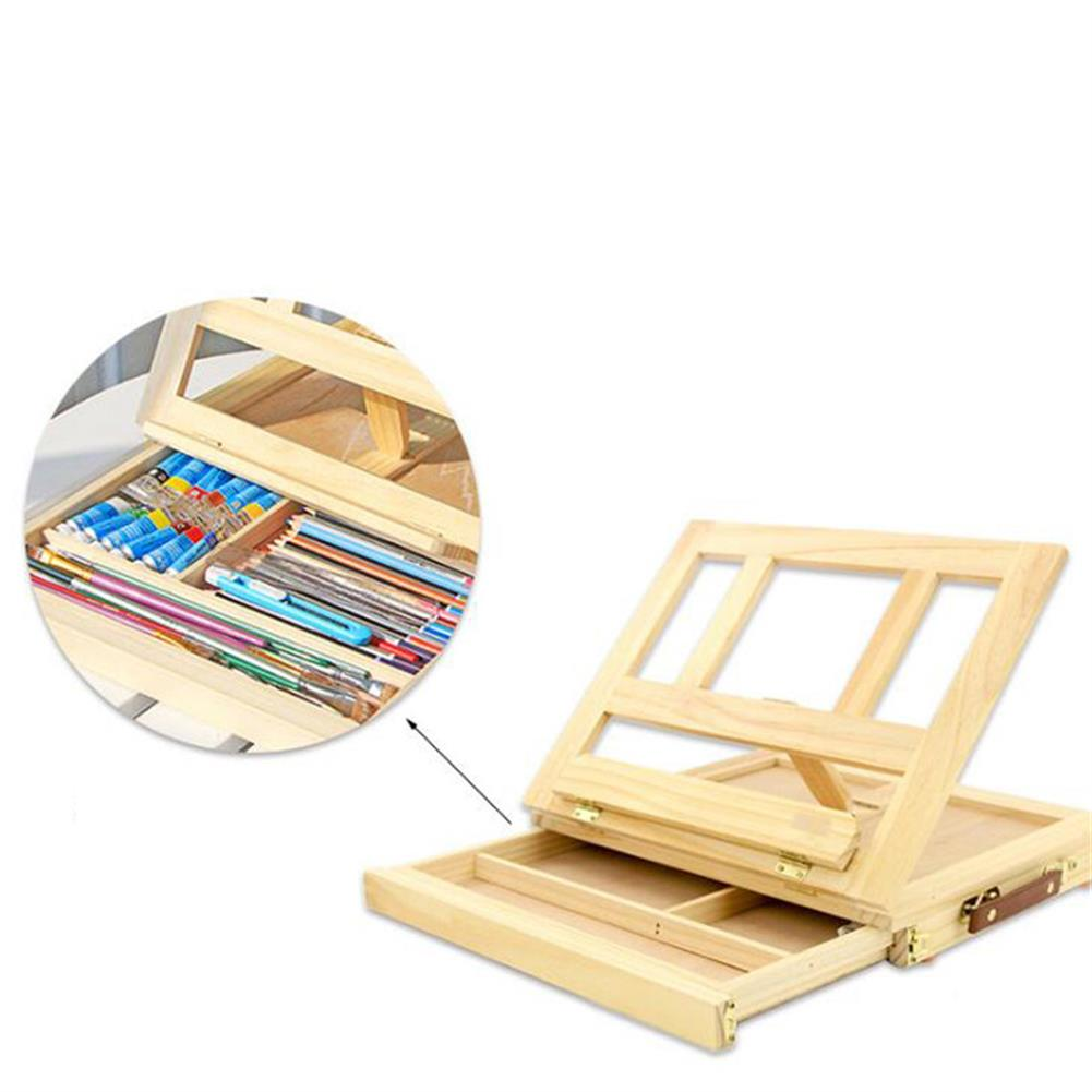 watercolor-paints Table Easel Drawer Pine Wood Artist Easel Painting Stand Craft Art Sketching Box Board Desktop Durable Drawing Board HOB1631672 1 1